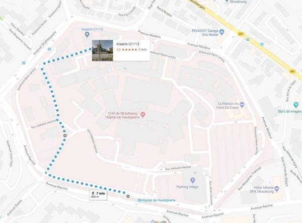 carte accès INSERM U1113